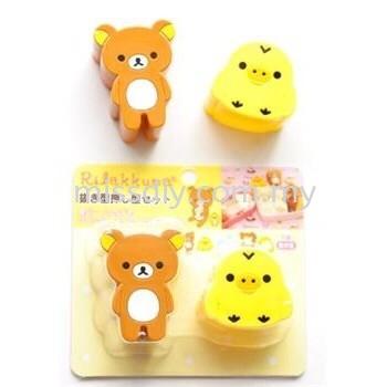 01329, Rilakkuma Rice Sushi Sandwich Bread Mold Bento