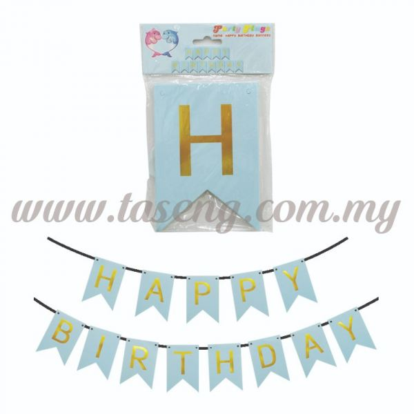 Banner Happy Birthday *Baby Blue - Small (P-BN-8936BB) Banner Party Decorate Kuala Lumpur (KL), Malaysia, Selangor, Batu Caves Supplier, Suppliers, Supply, Supplies | Taseng Marketing Sdn Bhd