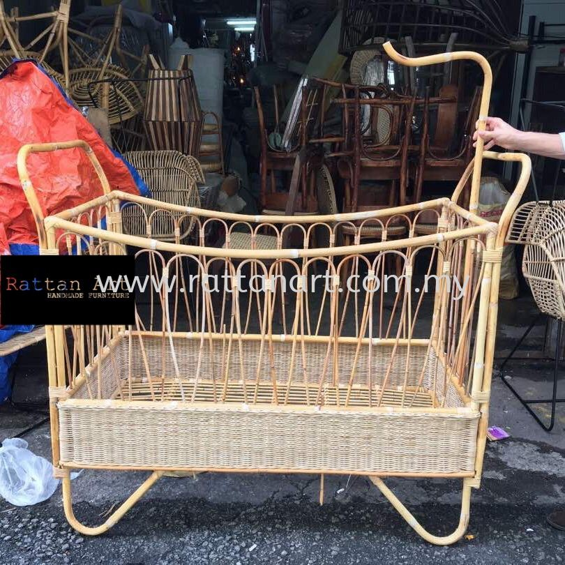Custom Made Rattan Baby Bed