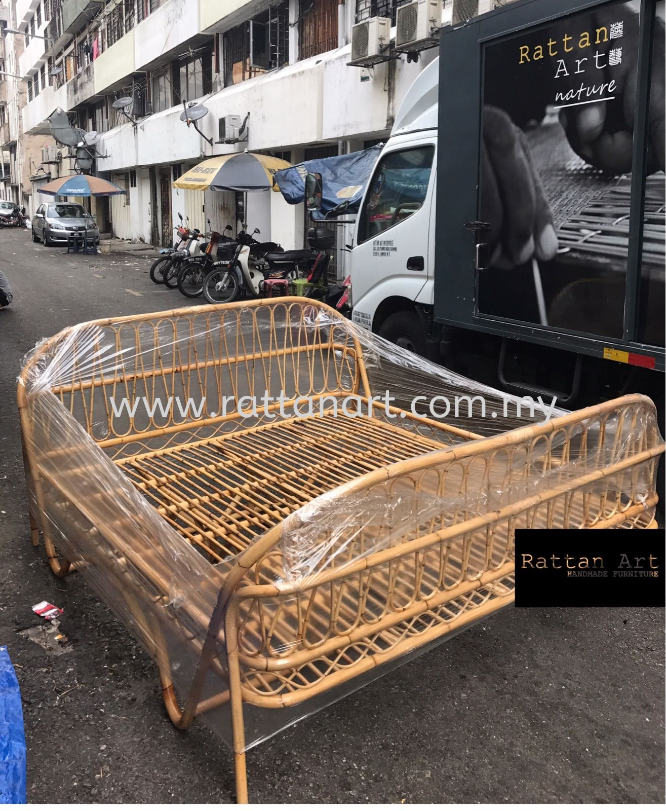 Custom Made Rattan King Size / Queen Size Bed Frame