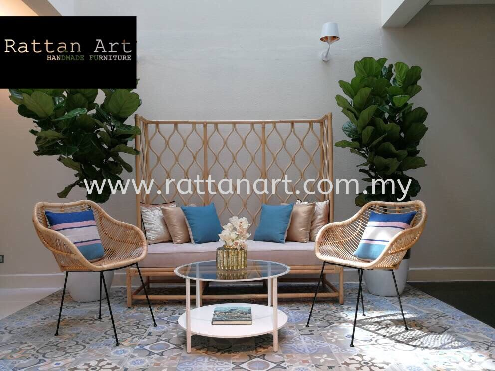 Custom Made Rattan Couch