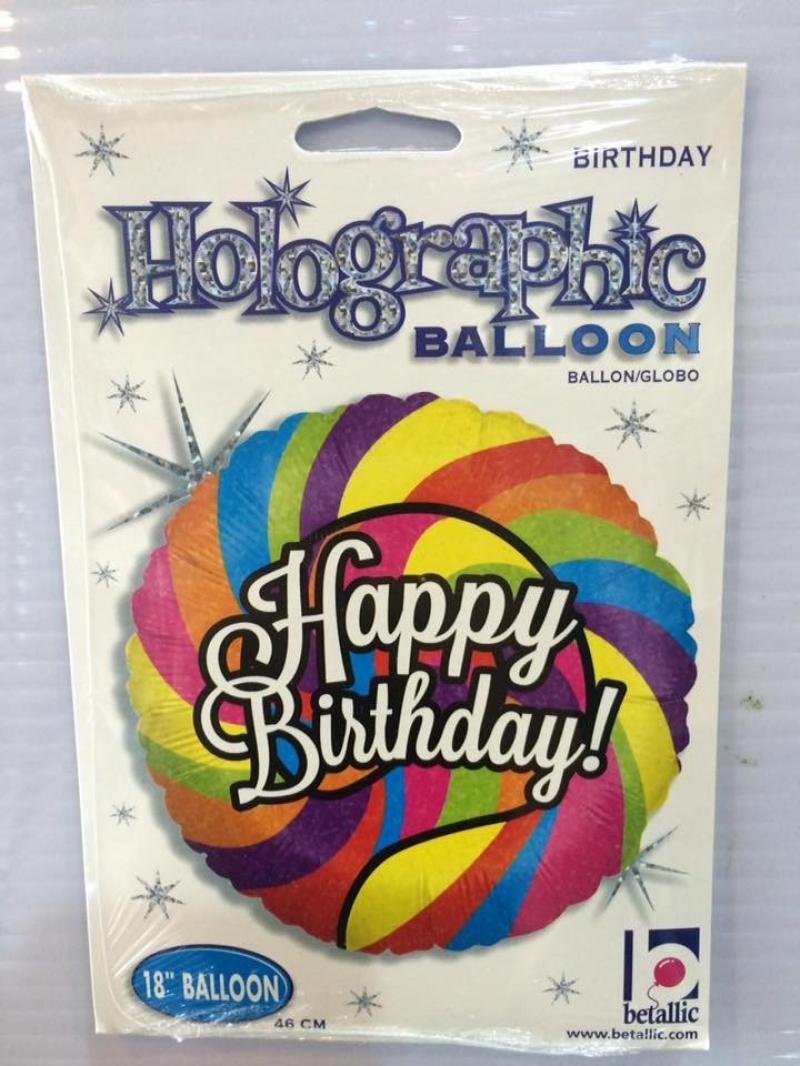 18 Inch Anagram Happy Birthday Foil Balloon
