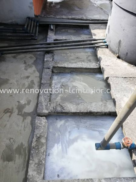 Waterproof work on the roof Water Proofing Selangor, Kuala Lumpur (KL), Malaysia. Service, Design, Supplier, Supply | LC Cabinetry & Renovation Design