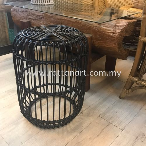 RATTAN DINING STOOL DRUM