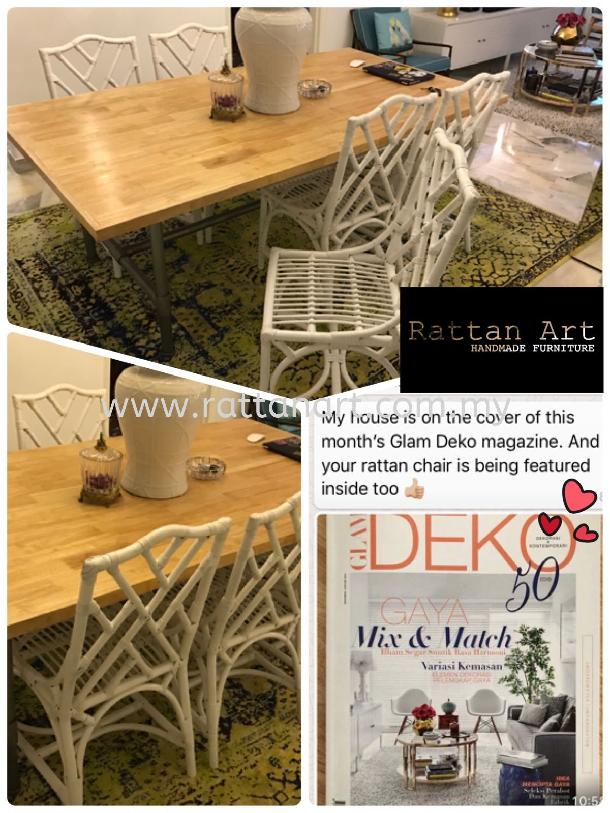 Custom Made Rattan Dining Chair