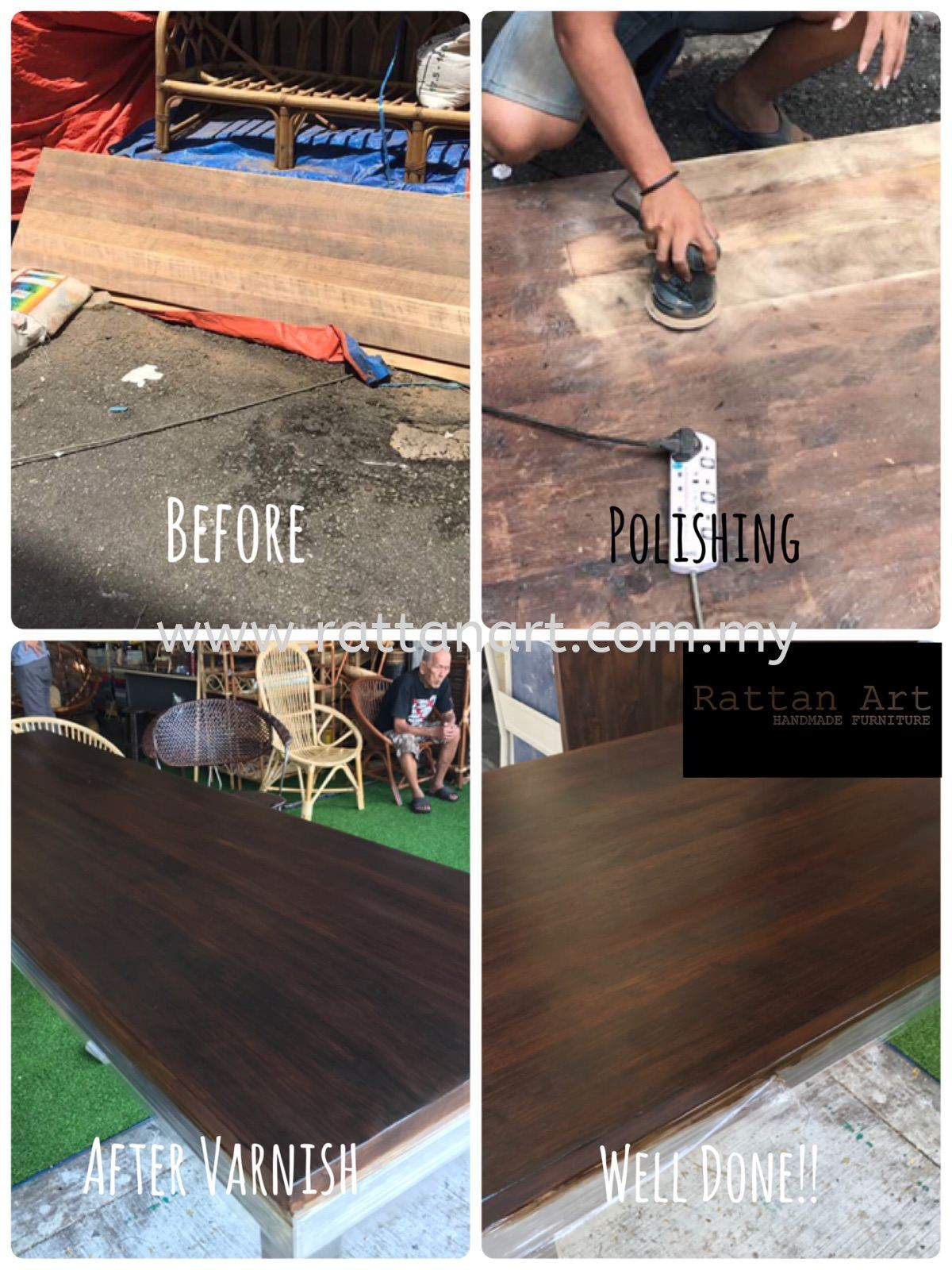 Repair Wooden Table / Renew And Re-varnish