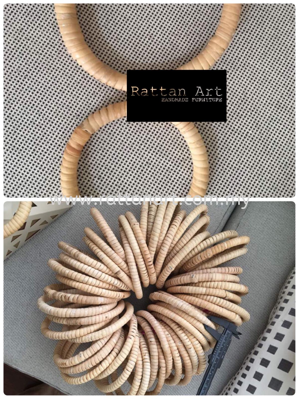 Custom Made Rattan Ring / Rattan Bag Handle