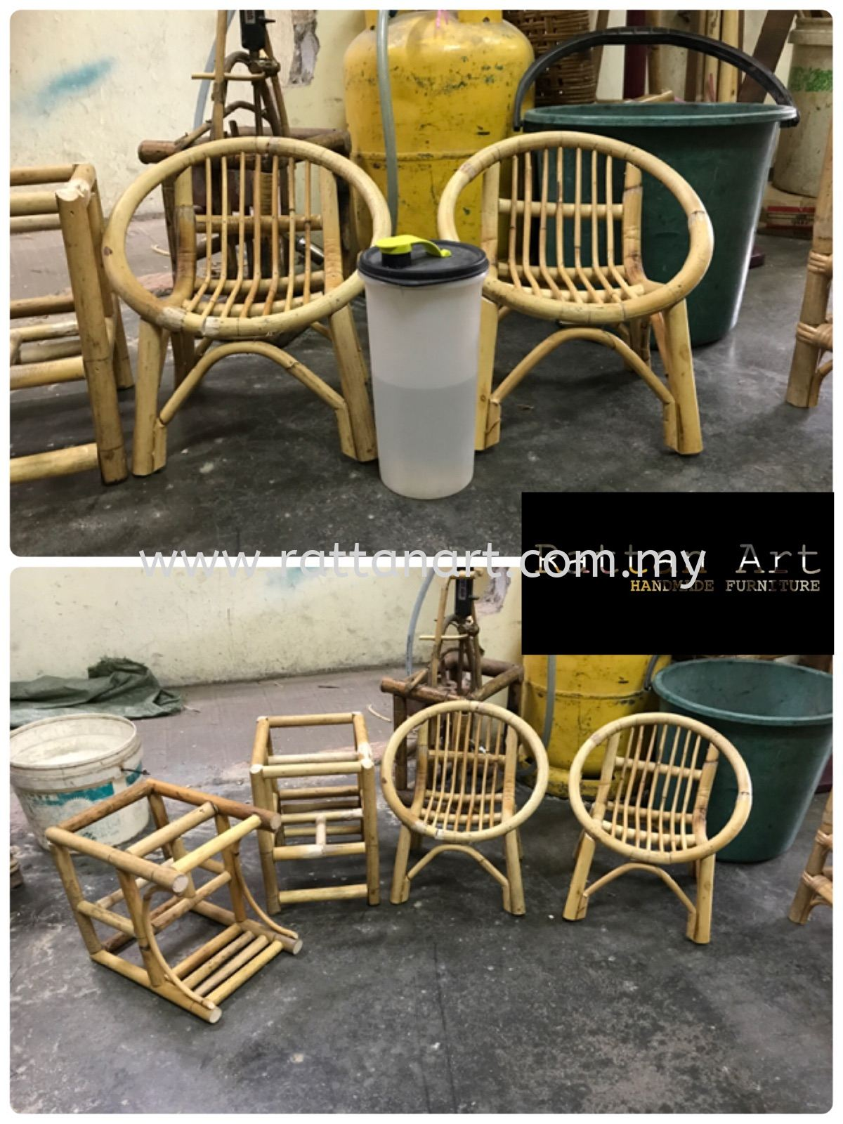 Custom Made Rattan Baby Doll Chair