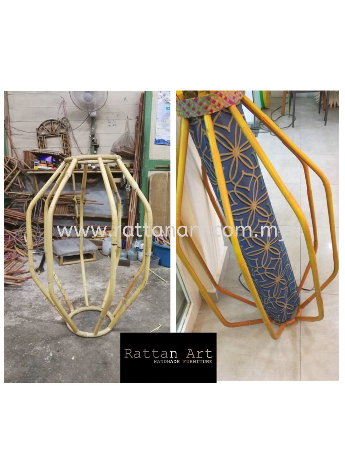 Custom Made Rattan Decorations