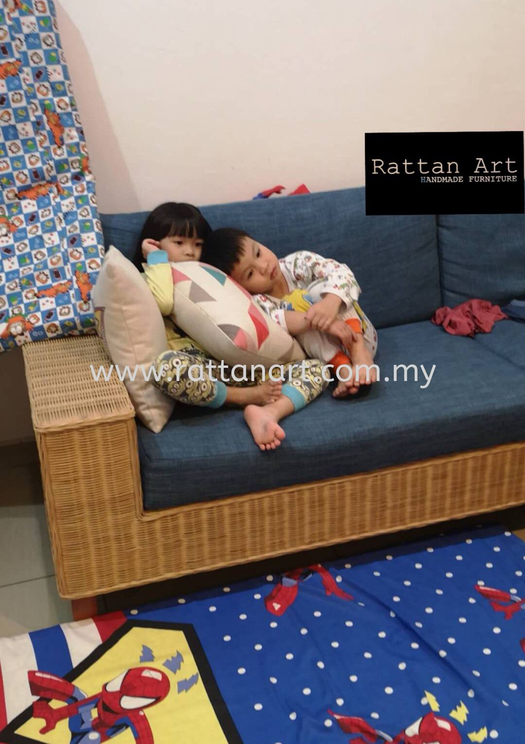 Custom Made Rattan Sofa