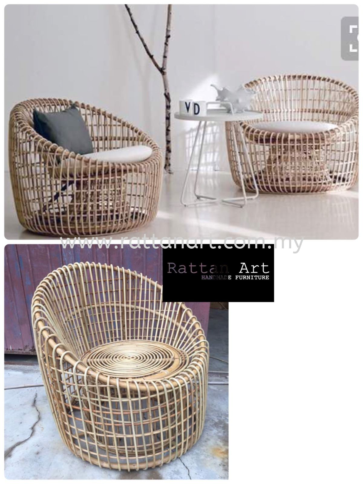 Custom Made Rattan Lounge Chair
