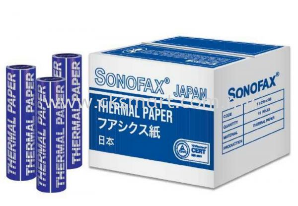 SONOFAX 1/2 X 210 X 30 FAX ROLL Paper Products Johor Bahru (JB), Malaysia, Skudai Supplier, Suppliers, Supply, Supplies | CK Smart Trading