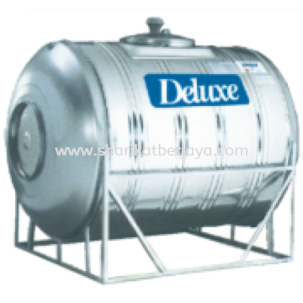 DELUXE HORIZONTAL WITH STAND 304 STAINLESS STEEL WATER TANK Deluxe Stainless Steel Water Tank Plumbing Johor, Malaysia, Ayer Hitam Supplier, Wholesaler, Supply, Supplies | Sharikat Berjaya