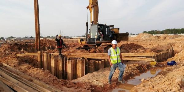 Proposed Car Battery Manufacturing Plant at Kuantan Integrated Industrial Park Sheet Piling Project References Johor Bahru (JB), Malaysia, Ulu Tiram Supplier, Rental, Equipment, Machinery | Ecotrans Construction & Heavy Machinery Sdn Bhd