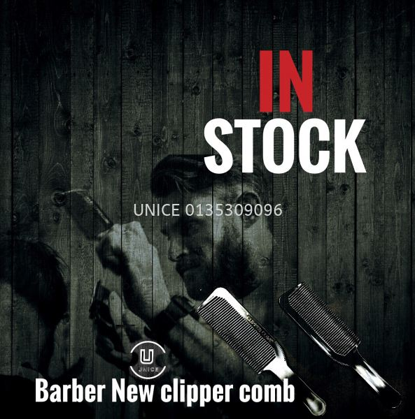 Barber New Clipper Comb BARBER ACCESSIORIES BARBER AND SALON TOOLS Johor Bahru JB Malaysia Supplier & Wholesaler | UNICE MARKETING SDN BHD