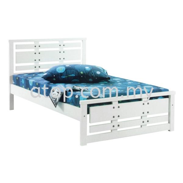 Atop ATN 8266WH Single Bed Frame 2017 SERIES Single Bed Frame (3ft) Malaysia, Selangor, Kuala Lumpur (KL), Rawang Manufacturer, Maker, Supplier, Supply | Atop Trading Sdn Bhd