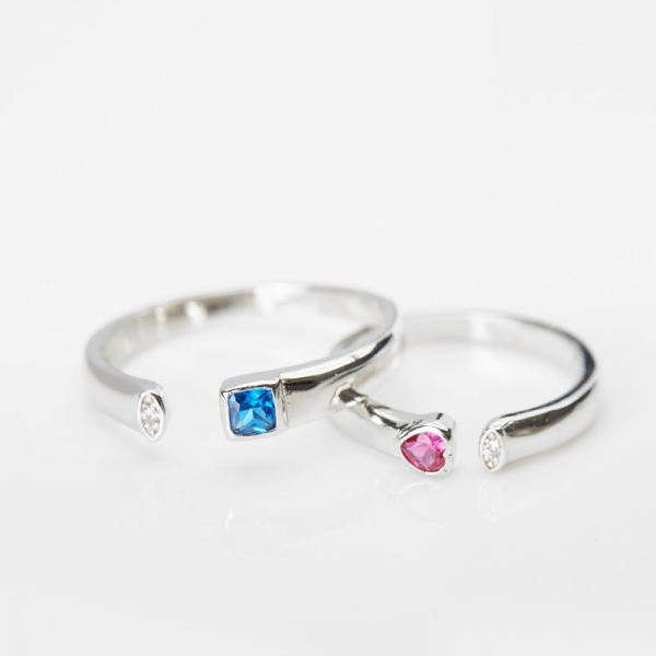 Couple Rings (18K Plated with Silver 925) Rings Silver Collection Malaysia, Johor Bahru (JB), Iskandar Puteri Supplier, Suppliers, Supply, Supplies | Belle Cerise Jewellery Sdn Bhd