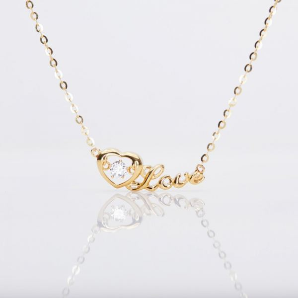 Heartbeat LOVE Necklace (916 Gold) Necklaces Gold Collection Malaysia, Johor Bahru (JB), Iskandar Puteri Supplier, Suppliers, Supply, Supplies   Belle Cerise Jewellery Sdn Bhd