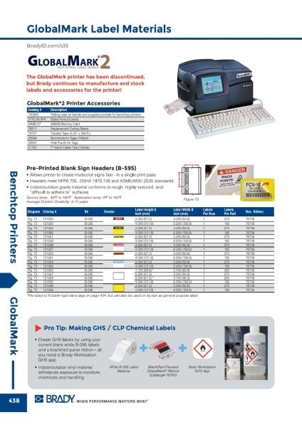 Globalmark Printer Materials Tape Brady Benchtop Printers Malaysia, Johor Bahru (JB) Supplier, Suppliers, Supply, Supplies | GMO Solution Sdn. Bhd.