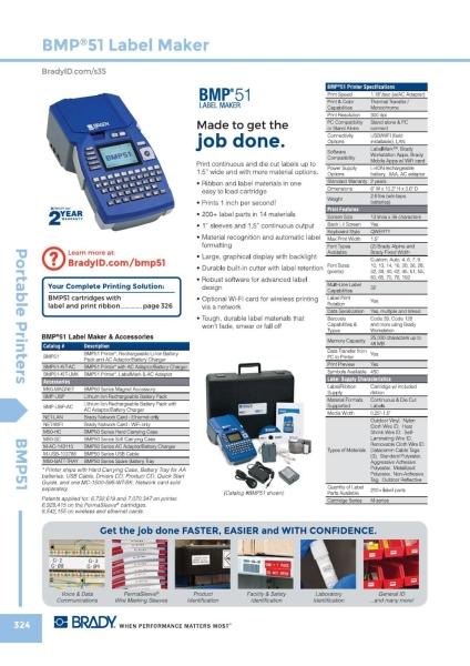 BMP51 Brady Portable Printers Malaysia, Johor Bahru (JB) Supplier, Suppliers, Supply, Supplies | GMO Solution Sdn. Bhd.