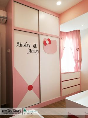Kid's Bedroom Wardrobe and Dressing Table