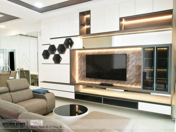 Living Room TV Cabinet T.V Cabinets / Consoles Penang, Malaysia, Bayan Lepas Kitchen, Design | Kitchen Story Sdn Bhd