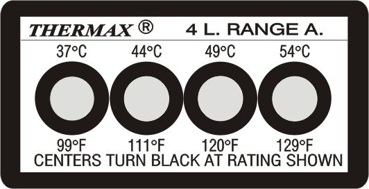 THERMAX 4 LEVEL TEMPERATURE STRIPS THERMAX TEMPERATURE STRIPS Singapore  | Futron Electronics Pte Ltd