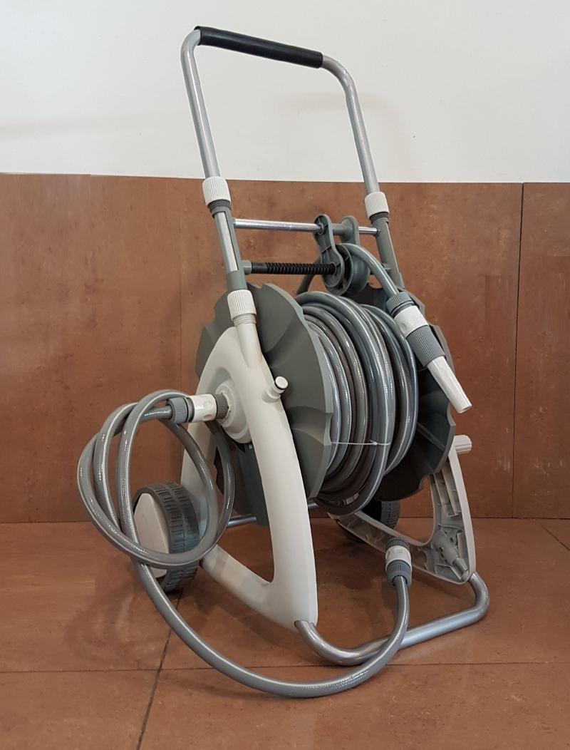 "Remax 1/2""x30m PVC Garden Hose c/w Trolley Reel Cart ID30659"