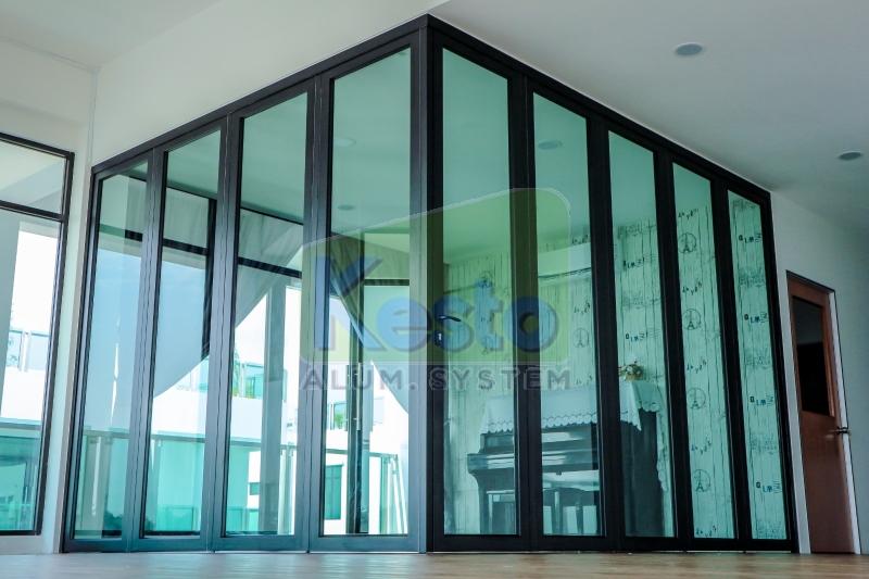 Performance L-Shape Folding Door Johor Bahru (JB), Tebrau Contractor, Supplier, Supply | Kesto Aluminium System (JB) Sdn Bhd