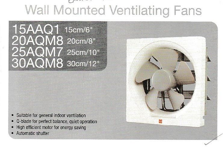 15AAQ1 Wall Mounted Ventilating Fans Electrical Fan Kuala Lumpur (KL), Malaysia, Selangor, Taman Desa Supplier, Suppliers, Supply, Supplies | Champion Power Electrical Sdn Bhd