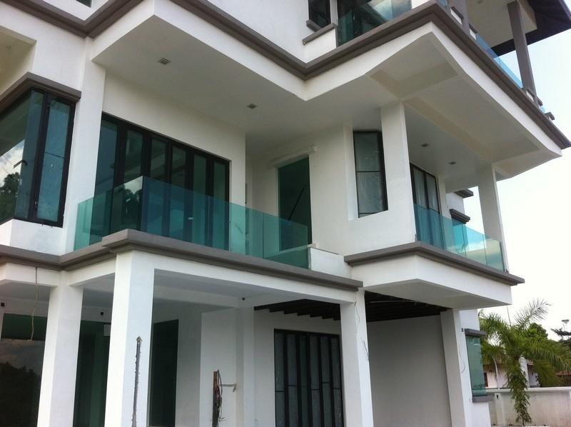 Balcony Frameless Glass Railing Balcony Frameless Glass Railing Glass Railing Selangor, Malaysia, Kuala Lumpur (KL), Puchong Supplier, Installation, Contractor, Supply   Sunteck Aluminium & Trading Sdn Bhd