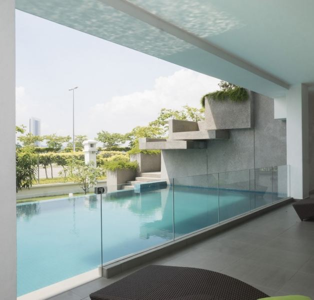 Swimming Pool Glass Railing Swimming Pool Glass Railing Staircase Glass Railing Glass Railing Selangor, Malaysia, Kuala Lumpur (KL), Puchong Supplier, Installation, Contractor, Supply | Sunteck Aluminium & Trading Sdn Bhd