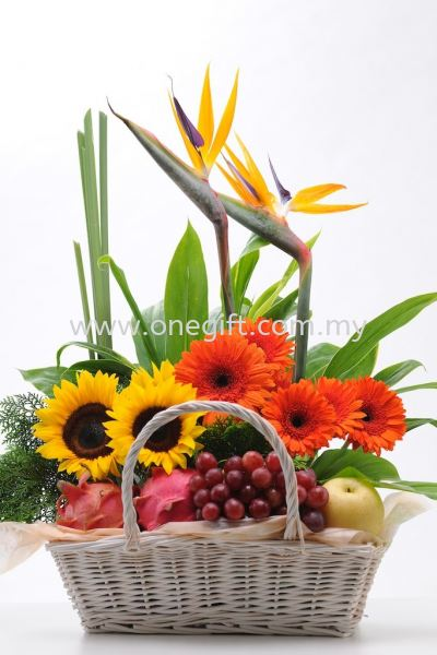 FF06 Flower and Fruit Basket Flower and Gift Malaysia, Selangor, Kuala Lumpur (KL), Shah Alam Supplier, Suppliers, Supply, Supplies | The One Gift Gallery Sdn Bhd
