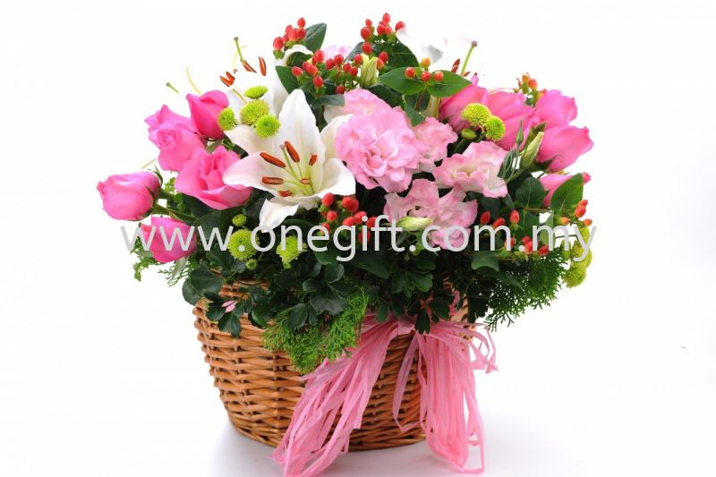 FF11 Flower and Fruit Basket Flower and Gift Malaysia, Selangor, Kuala Lumpur (KL), Shah Alam Supplier, Suppliers, Supply, Supplies   The One Gift Gallery Sdn Bhd