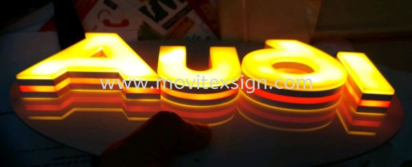3D LED lettering made by 3D latest printer machine with sophisticated design (view for more detail)  Signboard / Lighting Signboard  Johor Bahru (JB), Johor, Malaysia. Design, Supplier, Manufacturers, Suppliers | M-Movitexsign Advertising Art & Print Sdn Bhd