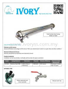 IVORY MEMBRANE WATER FILTER IS UP!!