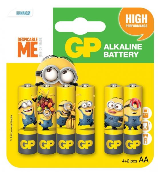 GP MINIONS EDITION ULTRA ALKALINE AA GP15AU4/2YOY-2AS6 1.5 Volts Batteries - Non-Rechargeable Batteries Products Melaka, Malaysia, Batu Berendam Supplier, Suppliers, Supply, Supplies | Jit Sen Electronics Sdn Bhd
