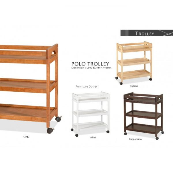 POLO 3TIERS TROLLEY MALAYSIA TROLLEY DINING FURNITURE Malaysia, Johor, Muar Supplier, Suppliers, Supply, Supplies | Scandinavian Furniture Outlet