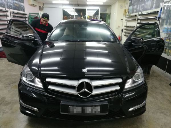 1) Benz C180 Mercedes-Benz ASWF - Made in USA Kuala Lumpur (KL), Selangor, Malaysia. Installation, Supplier, Specialist | Savgard Windscreen & Tint Specialist