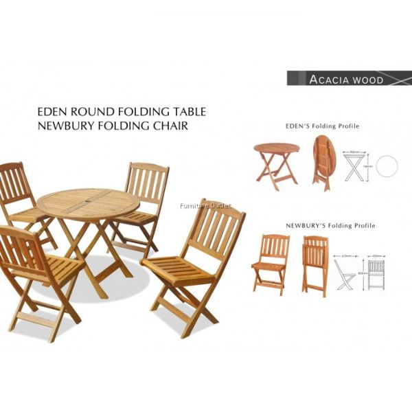 EDEN 90CM RD FOLDING TABLE MALAYSIA OUTDOOR FURNITURE Malaysia, Johor, Muar Supplier, Suppliers, Supply, Supplies | Scandinavian Furniture Outlet