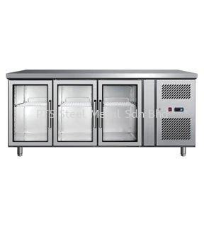 3 GLASS DOOR UNDER COUNTER CHILLER Commercial Refrigeration Selangor, Malaysia, Kuala Lumpur (KL), Seri Kembangan Supplier, Suppliers, Supply, Supplies | PTS Steel Metal Sdn Bhd