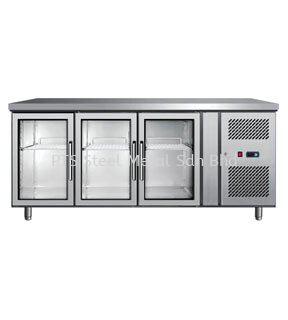 3 GLASS DOOR UNDER COUNTER CHILLER Commercial Refrigeration Selangor, Malaysia, Kuala Lumpur (KL), Seri Kembangan Supplier, Suppliers, Supply, Supplies | PTS Steel Metal Sdn Bhd