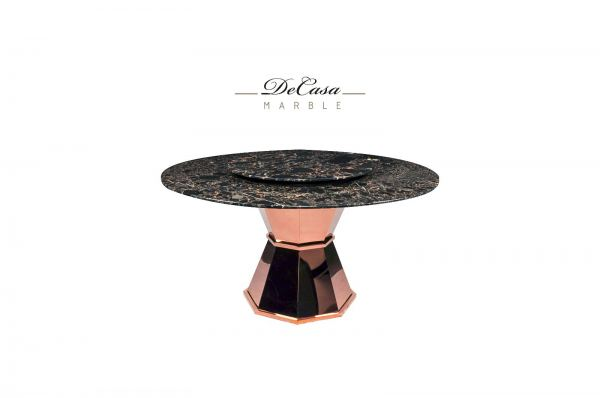 Black Marble Dining Table - Portoro Gold Marble  Marble Dining Table Selangor, Kuala Lumpur (KL), Malaysia Supplier, Suppliers, Supply, Supplies | DeCasa Marble Sdn Bhd