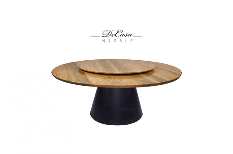 Beige Marble Dining Table - Roma Travertine Marble