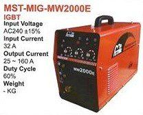 Mostar MIG Welding Machine MST-MIG-MW2000E Welding Machine Tools Johor Bahru (JB), Kulai, Malaysia Supplier, Suppliers, Supply, Supplies | Zhin Heng Hardware & Trading Sdn Bhd