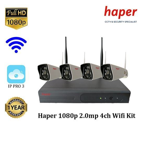 Haper 1080p 2.0MP 4-CH Wi-Fi Kit
