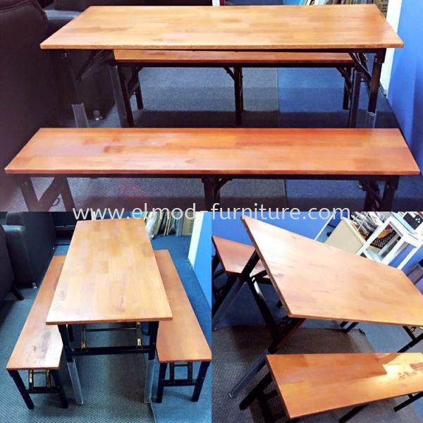 Foldable Bench & Table Food Court Set Food Court Furniture / Canteen Furniture Selangor, Kuala Lumpur (KL), Puchong, Malaysia Supplier, Suppliers, Supply, Supplies | Elmod Online Sdn Bhd