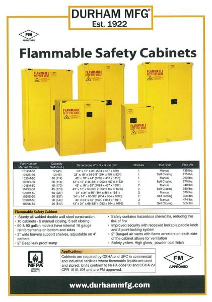 Flammable Safety Cabinets Durham Selangor, Malaysia, Kuala Lumpur (KL), Subang Jaya Supplier, Suppliers, Supply, Supplies | EIE Pulp & Speciality Sdn Bhd