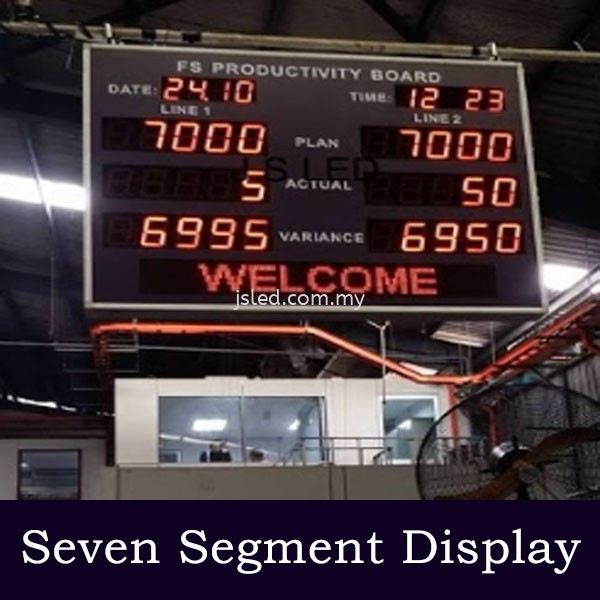Counter plus Auto Count Variance Seven Segment Display  Penang, Malaysia, Perai Supplier, Suppliers, Supply, Supplies | J S Led (M) Sdn Bhd