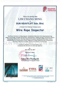 WIRE ROPE INSPECTOR TRAINING COURSE 2017